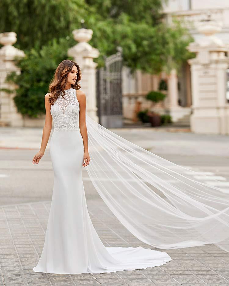 Rosa Clara Vestido de novia Sexy 2021 Tamesis