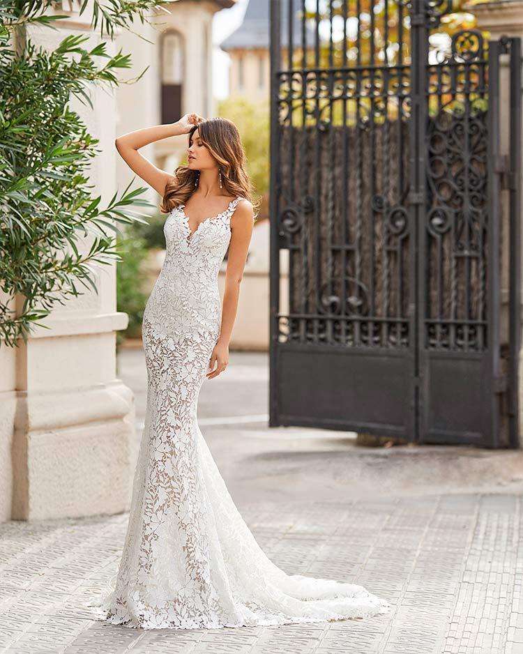 Rosa Clara Vestido de novia Sexy 2021 Teana