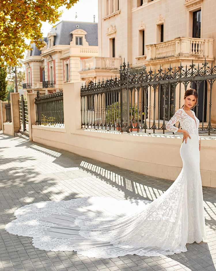 Rosa Clara Vestido de novia Sexy 2021 Tenor
