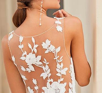 Vestidos de novia de efecto tatuaje Rosa Clára 2021