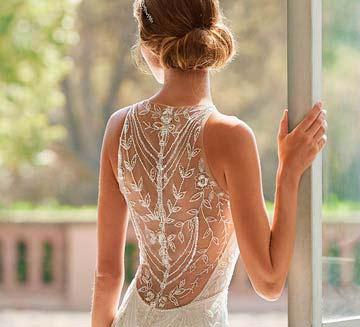 Vestidos de novia de efecto tatuaje Rosa Clára