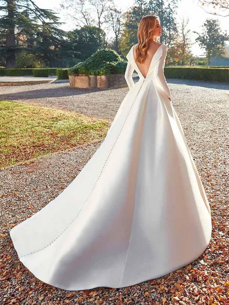 San Patrick Vestido de novia con mangas Morganite