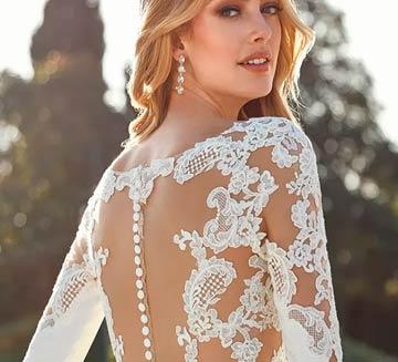 Vestidos de novia tattoo lace sirena San Patrick 2021