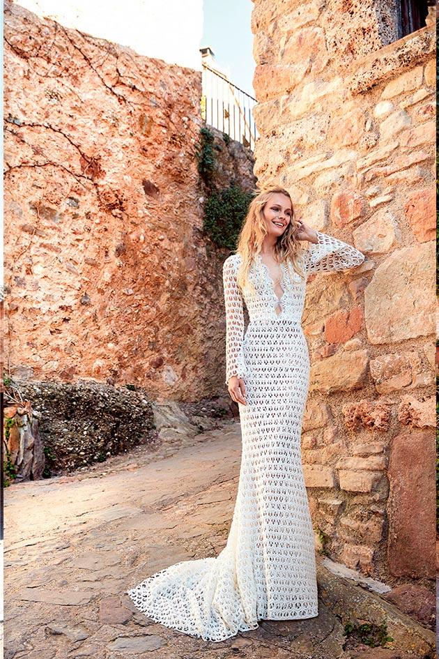 Vestido de Novia ibicencos de Yolan Cris 2020