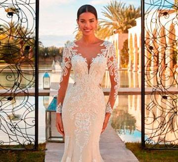 Vestidos de novia de mangas Demetrios