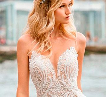 Vestidos de novia escote en v Demetrios 2021