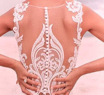 Vestidos de novia efecto tatuaje Valerio Luna 2021
