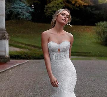 Vestidos de novia con encajes escote corazón