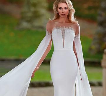 Vestidos de novia de mangas Nicole Milano