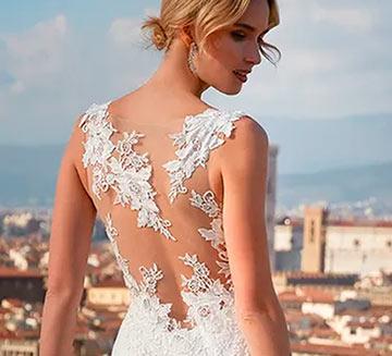 Vestidos de novia efecto tatuaje Nicole Milano 2021