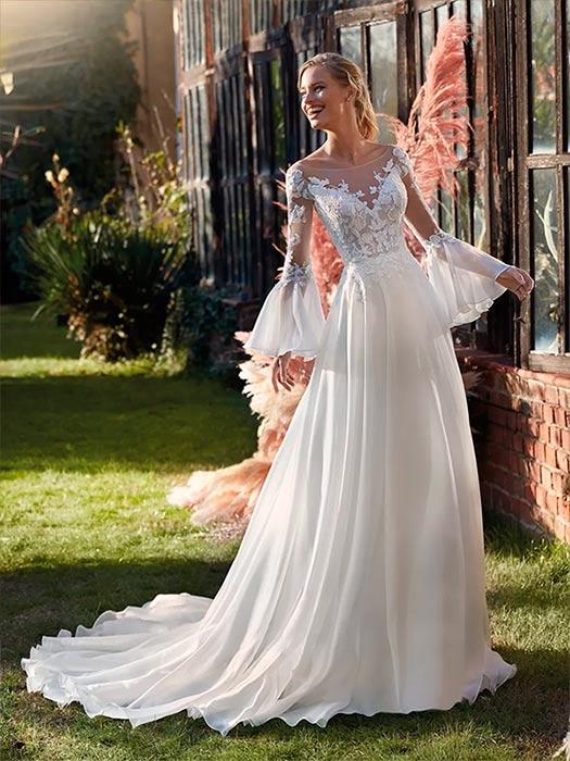 vestidos de novia medievales Nicole Milano