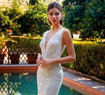Vestidos de novia de encajes Valerio Luna