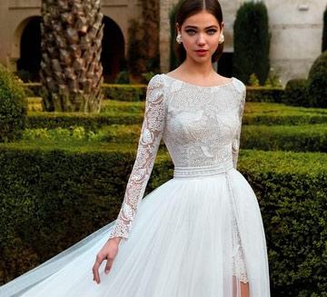 Vestidos de novia con mangas Valerio Luna 2021