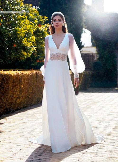 Vestido de Novia medieval de Valerio Luna novias 2021 - Modelo Dublin