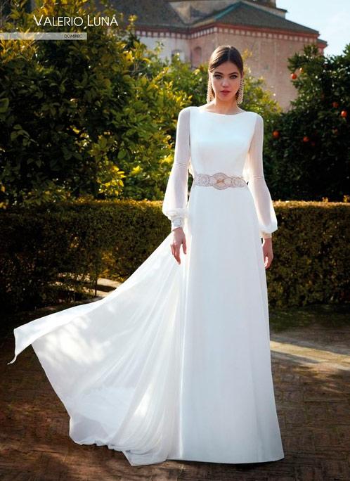 Vestido de novia sencillo Valerio Luna 2021 Dominic