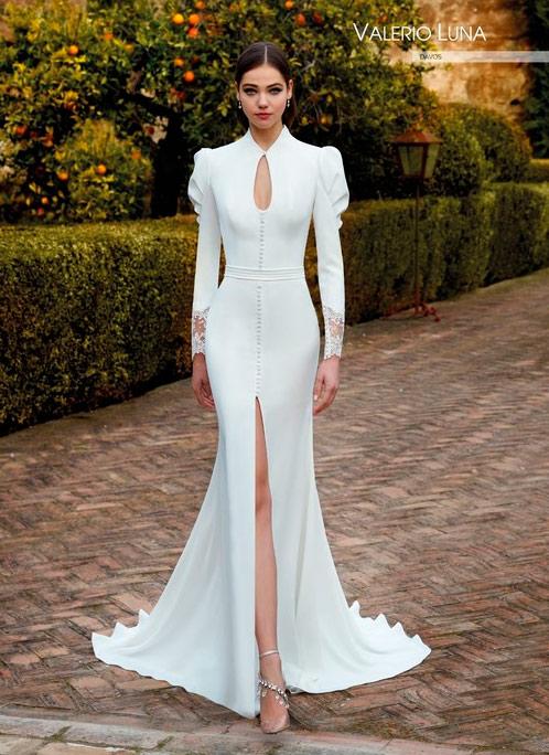 Valerio Luna Vestido de novia con mangas Davos