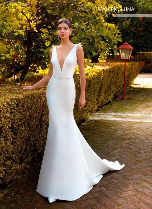 Vestido de novia sencillo Valerio Luna 2021 Dagua