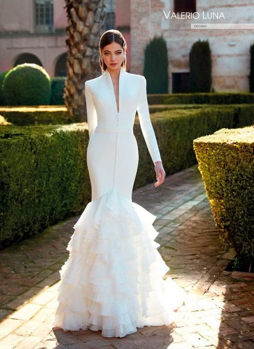 Valerio Luna Vestido de novia con mangas 2021 Decano