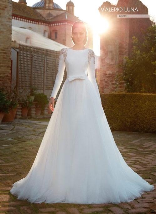 Valerio Luna Vestido de novia con mangas 2021 Dolmen