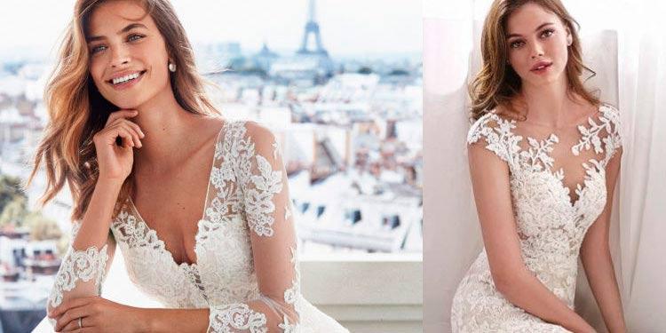 vestidos de novias con encajes