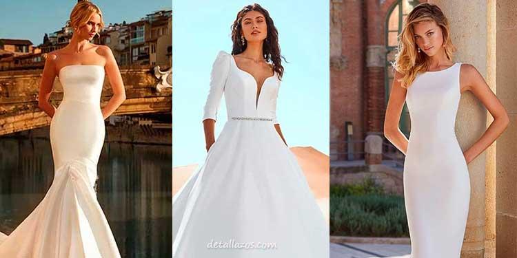 vestidos de novias sencillos