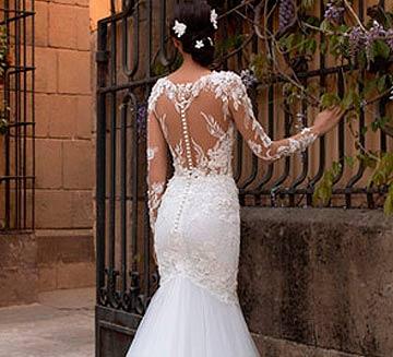 los mejores Vestidos de novia de efecto tatuaje del 2021