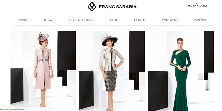 Franc Sarabia vestidos de fiesta